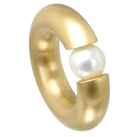 Eheringe 3 Mm by Ring 7 Mm Pvd Gold Brushed Pearl Rich Infusions