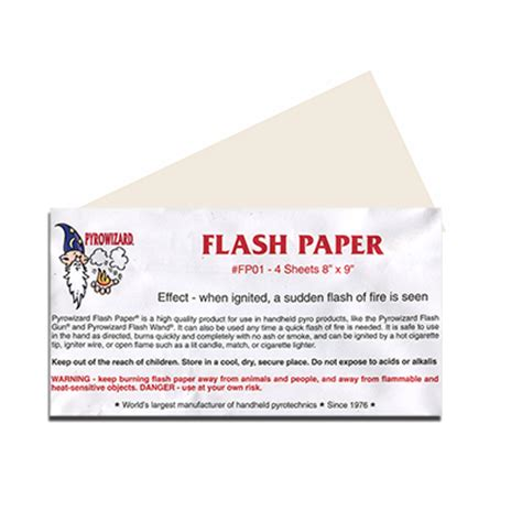 How To Make A Flash Paper - flash paper the magic warehouse