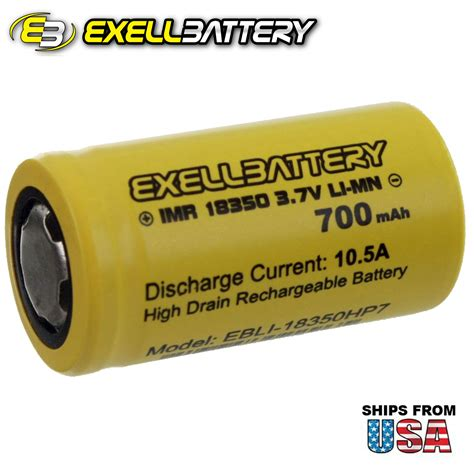 Efest Imr 18350 Battery 700mah 3 7v 10 5a With Flat Top imr 18350 li mn 700mah 10 5a 3 7v rechargeable high drain flat top battery ebay