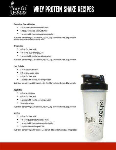 protein powder recipes whey protein shake recipes fitness tips recipes