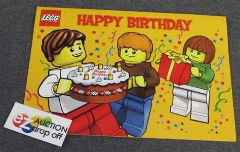Birthday Card Lego New Lego Minifig Happy Birthday Card Blank Inside 2010