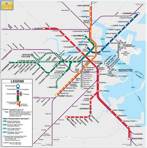 boston mbta map metro boston quot t quot mbta map you can take the out of new