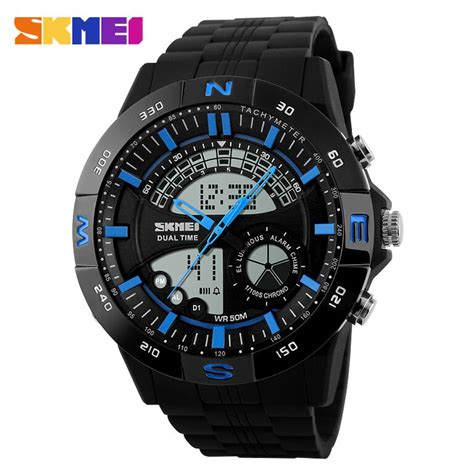 Jam Tangan Skmei Casio Led Ad1110 Blackblue skmei jam tangan analog digital pria ad1110 black blue