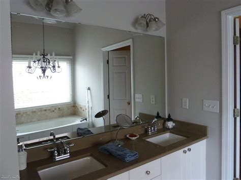 diy bathroom mirror frame ideas wall brushed nickel