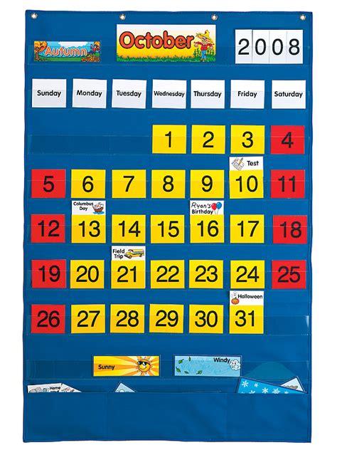 Calendar Pocket Chart Calendar Pocket Chart