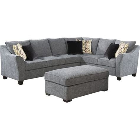 joss and main sectional sofa wrapped in pepper gray hued upholstery and showcasing a
