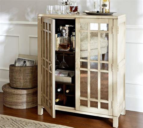 Ivory Antique Mirror Paneled Front Bar