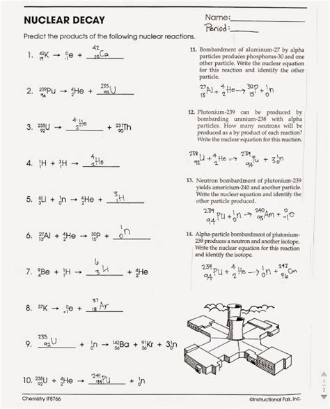 Nuclear Equations Worksheet Answers by Image Gallery Nuclear Decay Worksheet Answers
