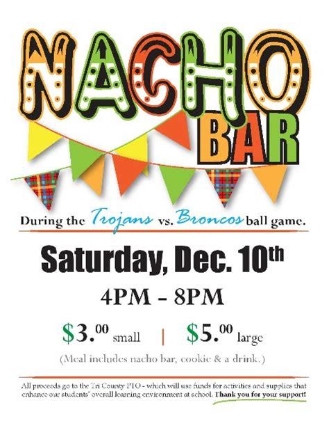 Nacho Sale Flyer Template tri county schools nacho bar