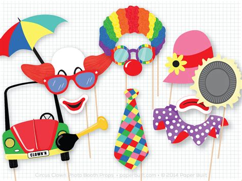 free printable photo booth props carnival circus clown photo booth props photobooth props circus