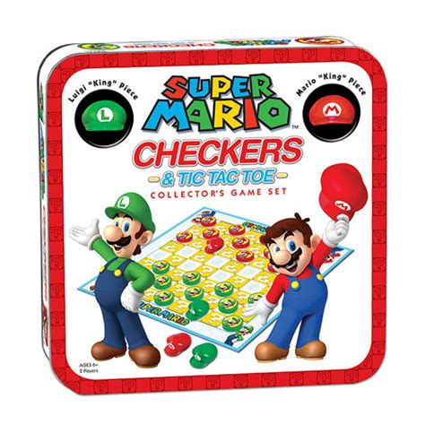 Usaopoly Checkers mario edition checkers and tic tac toe