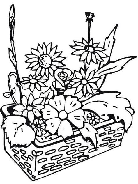 coloring pictures of wildflowers flori de primavara planse de colorat