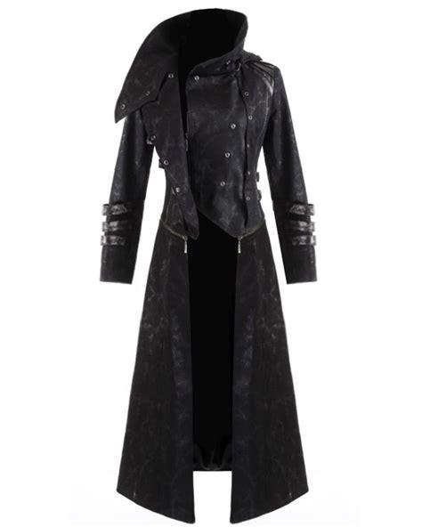 Hooded Trench Jacket scorpion mens coat jacket black