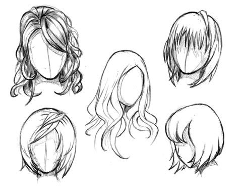 anime hairstyles how to draw manga hair reference sheet 1 20130112 by styrbjorna on