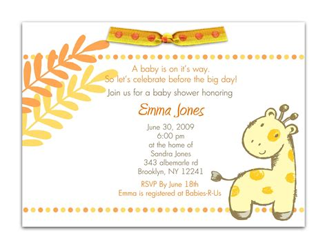 Baby Shower Invitation Card Wording by Baby Shower Invitation Baby Shower Invitation Templates
