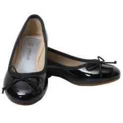 l amour toddler girls 9 black patent slip on bow flat