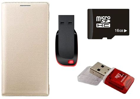 muditmobi leather flip cover with 16gb memory card