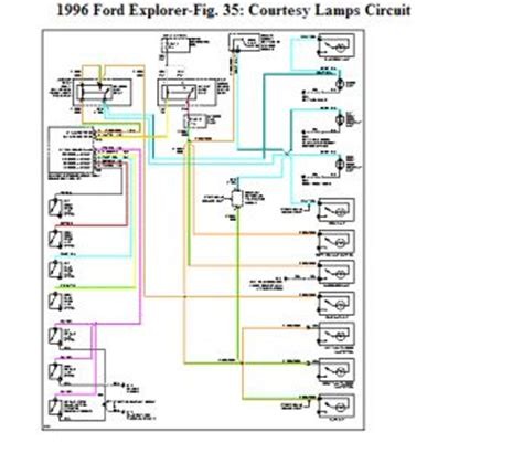 1996 ford explorer wiring diagram door ajar light my door ajar light is staying on and the interior