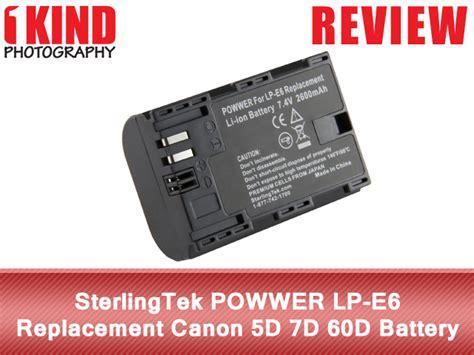 Batere Oem Canon Lpe6 review sterlingtek powwer lp e6 replacement canon eos 5d 7d 60d battery 1kind photography