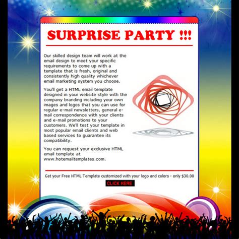 free email birthday invitation templates invitation free html e mail templates