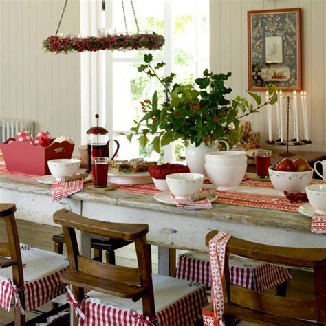 country christmas christmas table decorating ideas