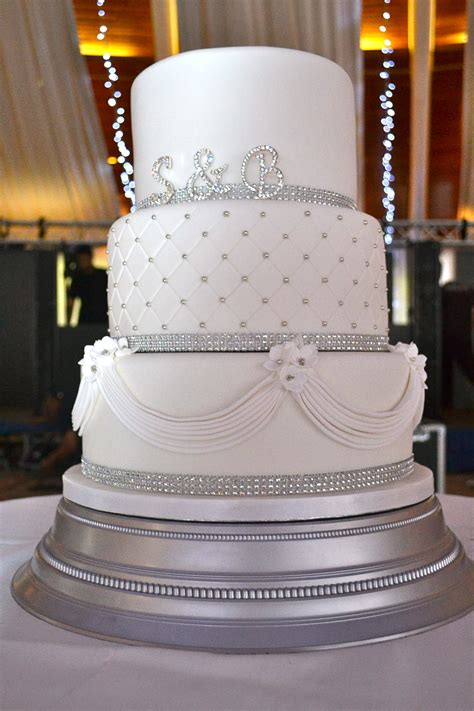 diamante  drapes wedding cake wedding cakes cakeology
