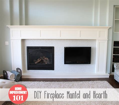 Home Improvement: Build your own Fireplace Mantel & Hearth