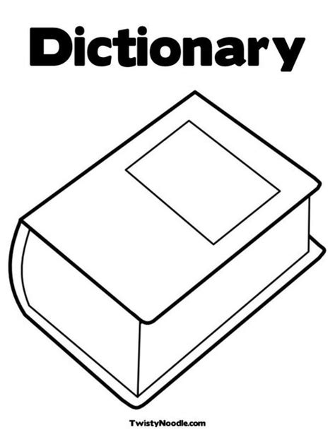 coloring book dictionary dictionary colouring pages sketch coloring page