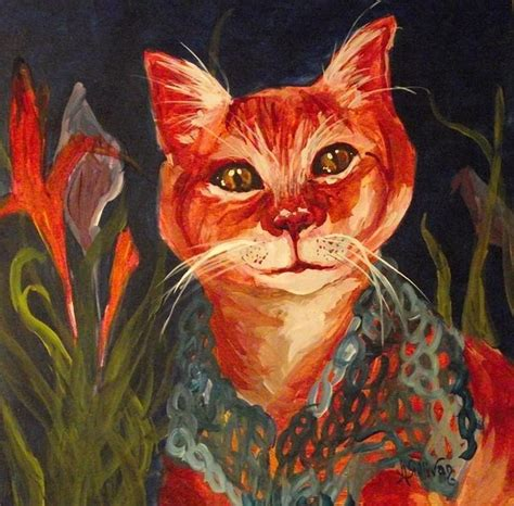 cool cat painting cool cat painting by angela sullivan