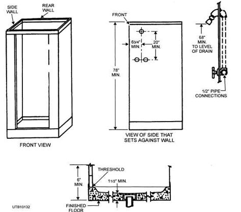 Minimum Size For Bathroom With Shower Shower Stall Measurements Universalcouncil Info