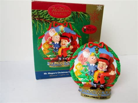 noma ornamotion battery mr magoo s carol musical carlton ornament 2004 tiny tim