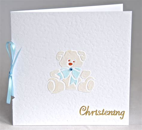 Handmade Christening Cards Uk - a beautiful handmade card for a christening handmade by
