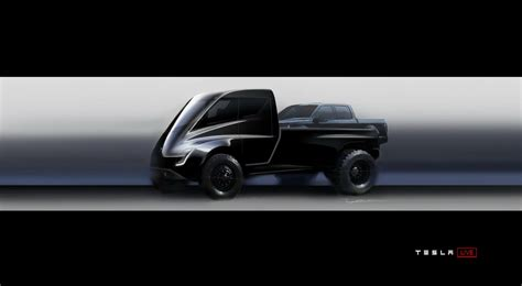 tesla truck tesla pickup truck teased looks like a giant toy car