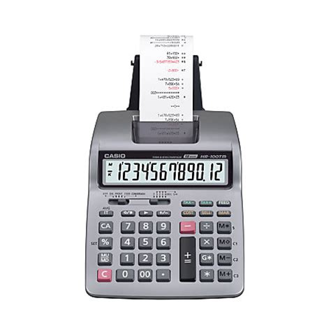 Casio Hr 100 Tm Kalkulator Print casio hr 100tm plus printing calculator by office depot