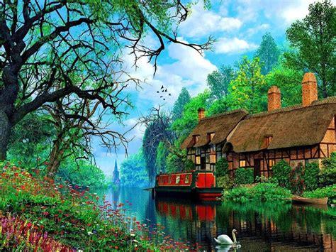Swan Tag wallpapers: Swan Family Nature Lake Wallpapers