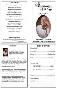 creating a funeral program search engine at search