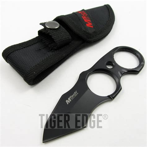 tactical tanto fixed blade new mtech black tang finger ring tactical defender
