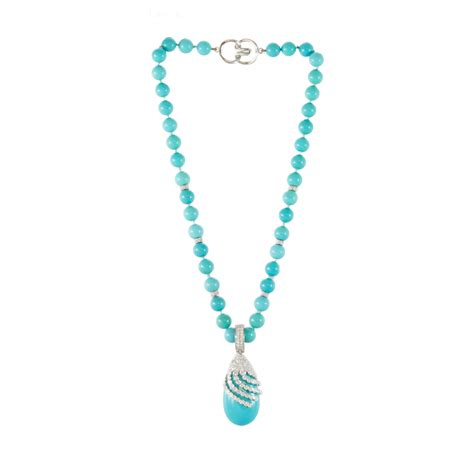 turquoise necklace turquoise gold beaded necklace miriams jewelry