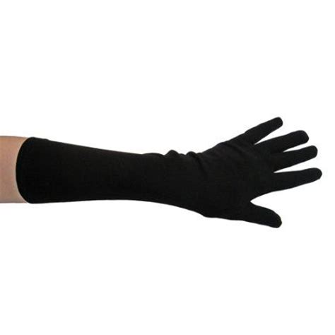 Dr Gloves Rgf Black black costume gloves length costume accessories stc12037
