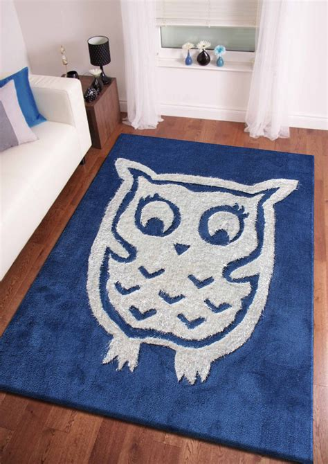 blue rugs for bedroom 4 x 6 ft blue kids bedroom area rug with owl design