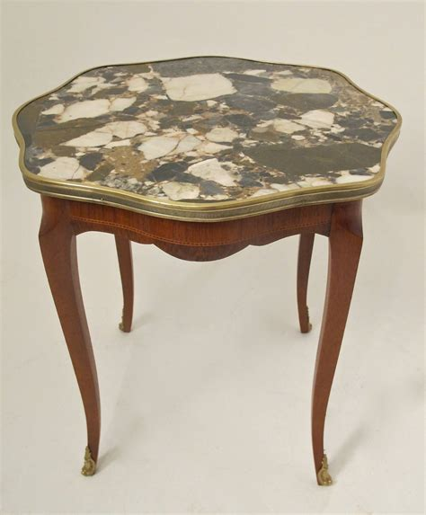 Marble Side Table Italian Mahogany And Marble Side Table For Sale At 1stdibs