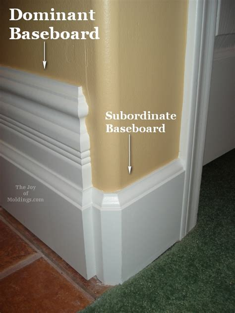 baseboards sizes baseboard subordination the of moldings