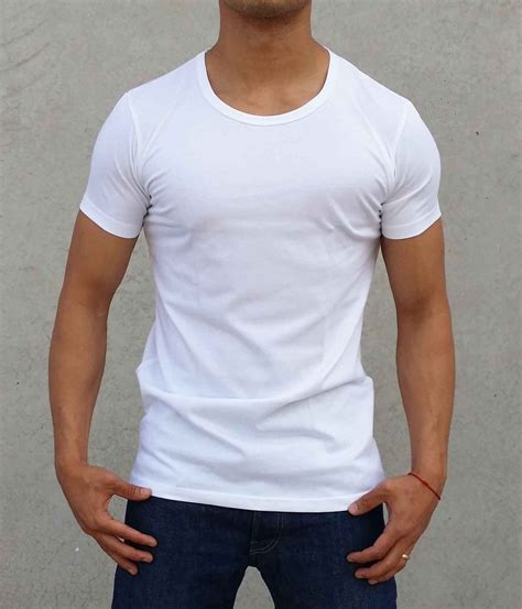 T Shirt Sneba Funky Style new 2 pack plain white crew neck t shirt slim fit casual fashion ebay