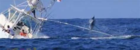 boat sinking at jupiter inlet marlin sinks fishing boat