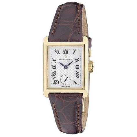 dreyfuss co 18ct gold brown leather