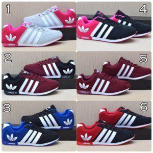 Sepatu Adidas Cewek Wanita Murah Casual Sport Lari Run sepatu sport adidas wanita casual abu abu pink semi ori