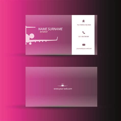 pink business cards templates free pink business cards template design vector free vector in