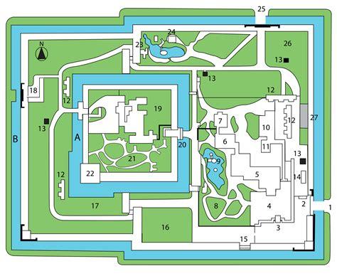 japanese castle floor plan nijo castle map trip to japan pinterest nijo castle