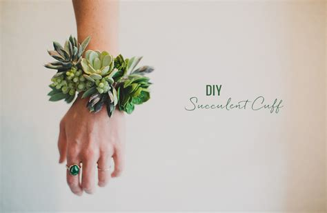 diy succulent diy succulent wrist cuff green wedding shoes weddings