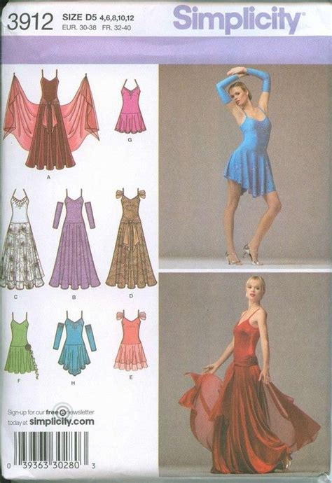 pattern latin dress salsa dress dancer sewing pattern simplicity 3912 size 4